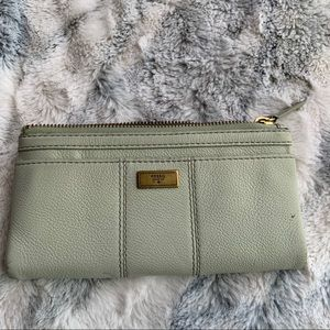 Fossil light green leather wallet